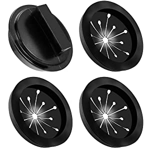 Garbage Disposal Splash Guards and Stopper Set 4 Pack(3+1), Topspeeder Food Waste Disposer Accessories Multi-function Drain Plugs Splash Guards Fits Whirlaway, Waste King, Sinkmaster and GE Models