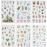 NUOBESTY Adesivos de suculentas com 6 folhas de desenho animado adorável fofo para plantas e corpo adesivos decorativos para