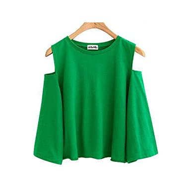 Sexy Off Shoulder Women Blouse Plus Size Womens Tops and Blouses Green L