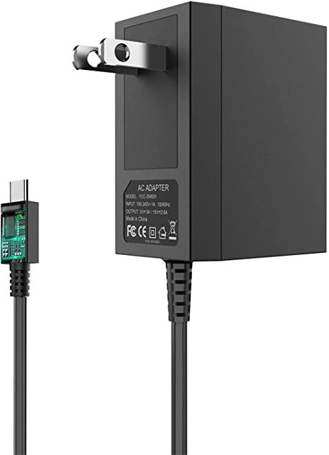 Switch Charger for Nintendo Switch and Switch Lite Charger, AC Power Supply Adapter Compatible with Nintendo Switch, 15V/2.6A Support TV Mode, Fast ...