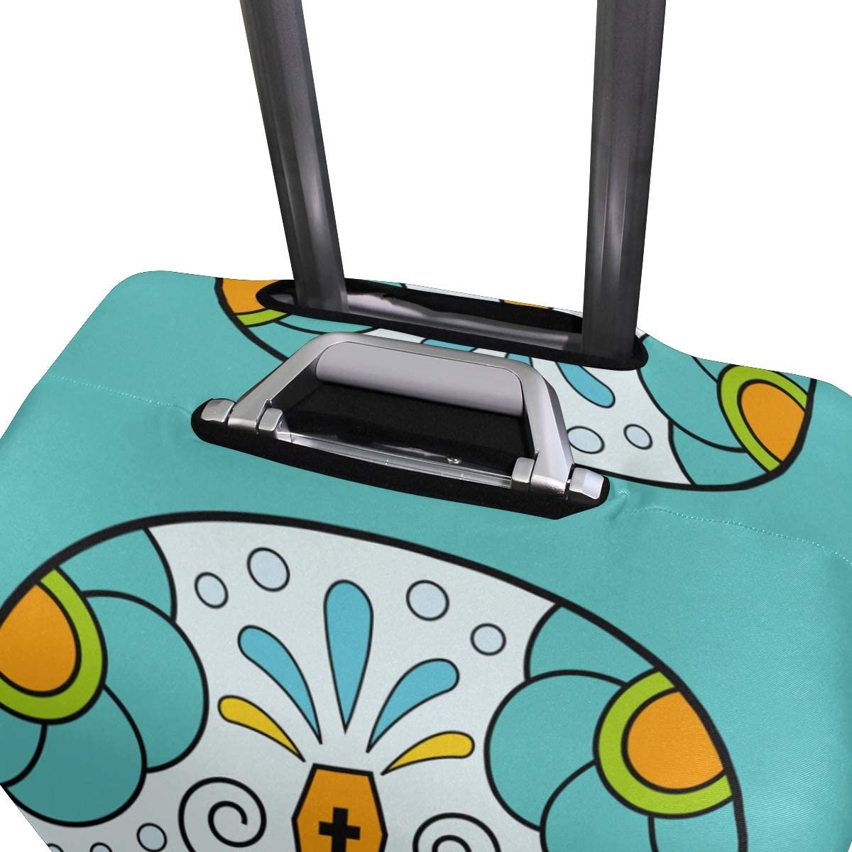 FOLPPLY Sugar Skull Luggage Cover Baggage Suitcase Travel Protector Fit for 18-32 Inch