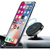 Baseus Aluminium Alloy Universal Air Vent Magnetic Car Mount Phone Holder (Vertical Type) with 360° Rotation for Smartphones and Mini Tablets, Silver