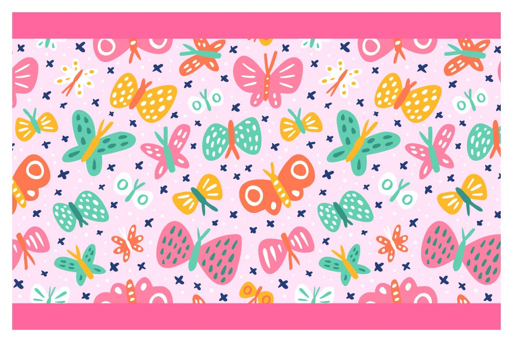 I-love-Wandtattoo Sticker mural B de 10162Chambre Frise Chambre de Petite Fille Décoration Murale Papillons colorés Stickers muraux sticker mural Sticker mural - Höhe: 15 cm; Breite: 5 m