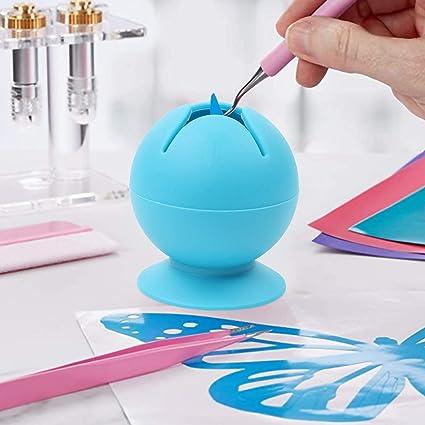 3 piezas de colector de chatarra Azul herramienta de deshierbe artesanal colector de chatarra de deshierbe de vinilo succionado herramientas de deshierbe artesanales para esculpir