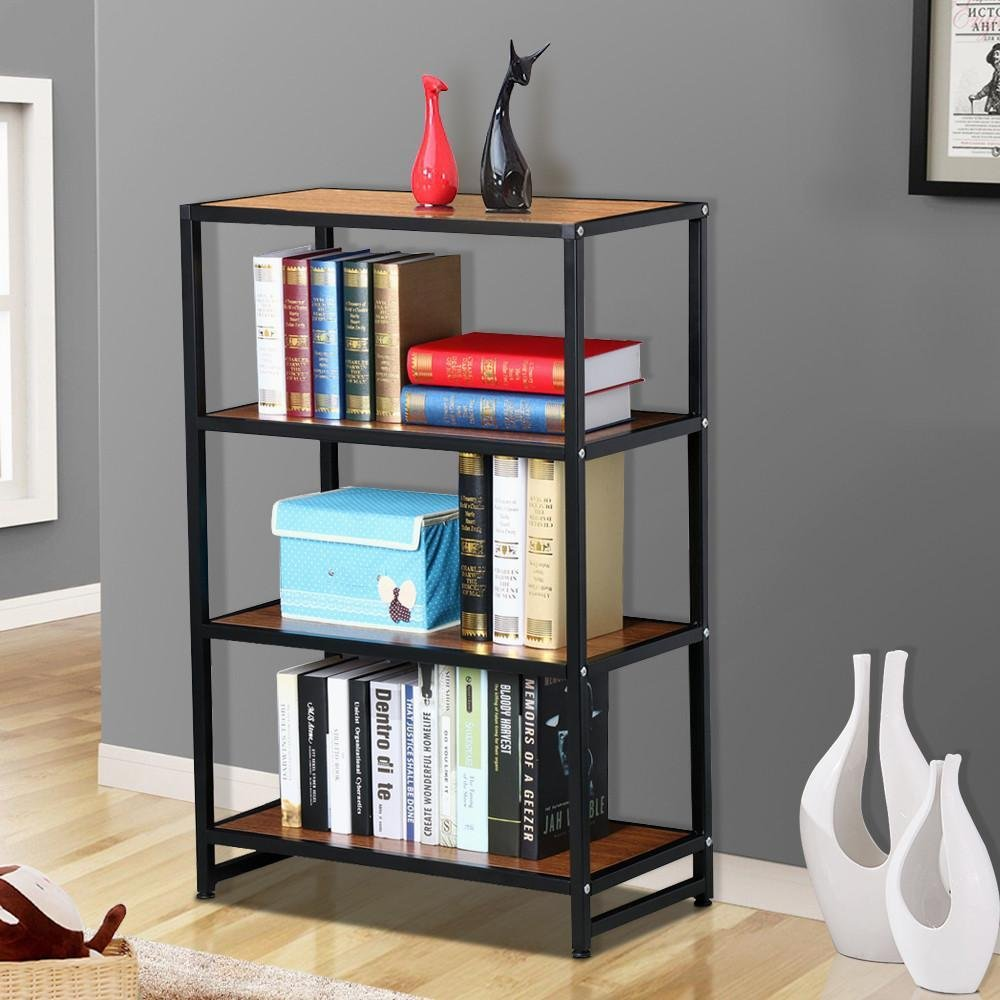 shelf room modern bookcases cutout unit and century divider mid blonde img iron minimalist oak bookcase product