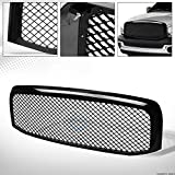 #7: R&L Racing Glossy Black Luxury Mesh Front Hood Bumper Grill Grille Cover Abs 06-09 Dodge Ram