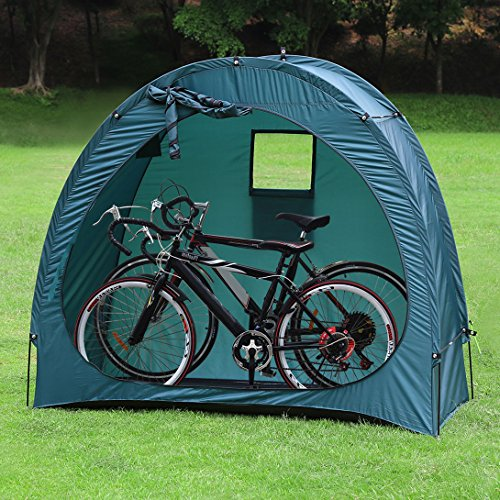 YP Outdoor Weatherproof Garage Shed Bicycle Tent Space Saver for Camping,Backyards,Tours - Bike Shed Portable Bike Storage Tent by YP