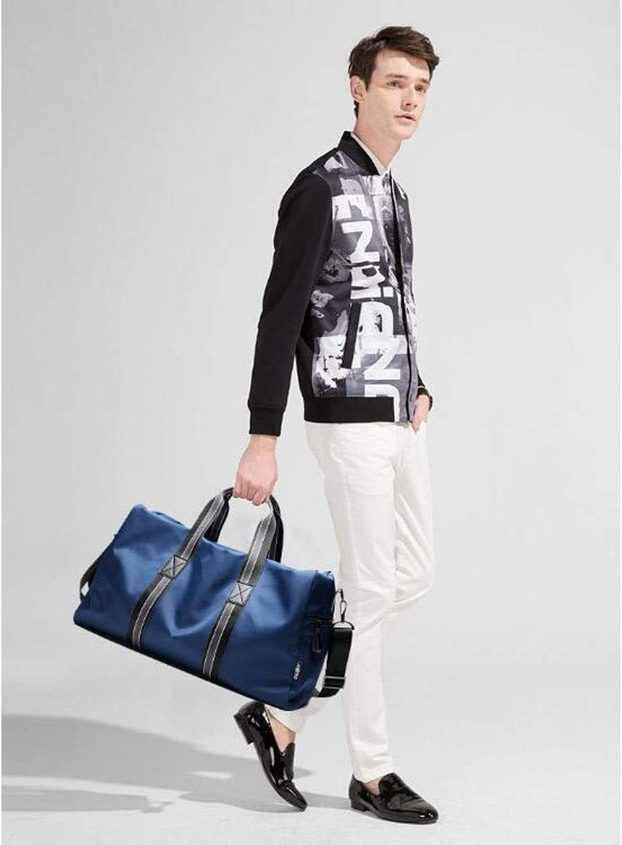 Hongyuantongxun Sports Bag Male Handbag Black Large Size: 451928cm Safety Large Capacity Short Travel Bag Color : Sapphire Blue Fashion Trend Travel Bag Waterproof Fitness Bag