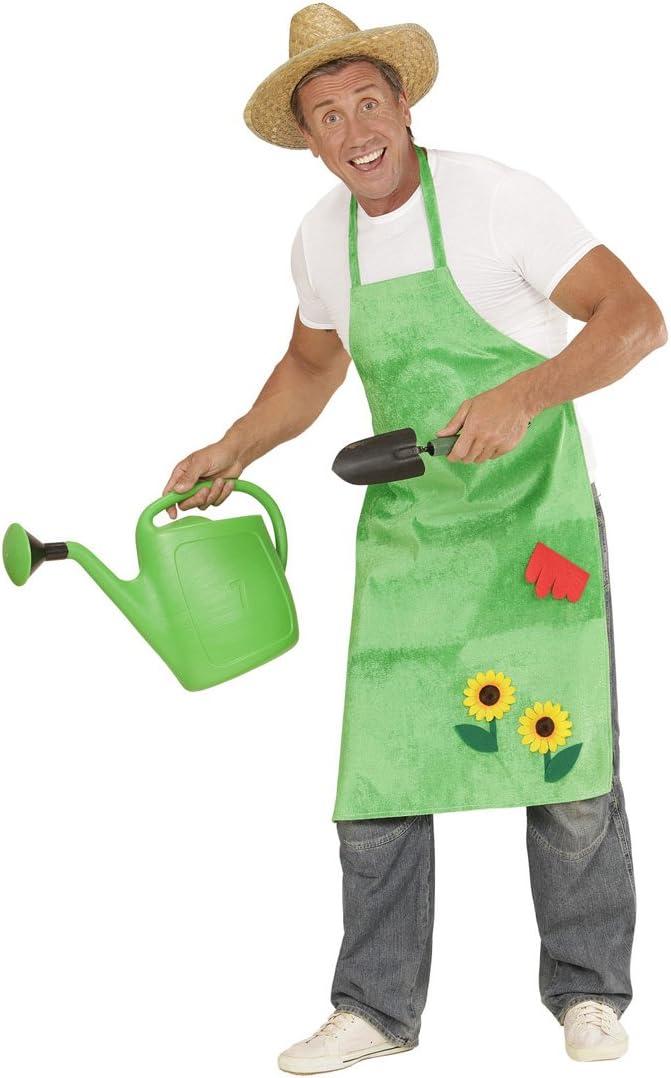 NET TOYS Costume Jardinier horticulteur avec Tablier de Motif tournesols Vert Fleurs Tablier Blouse Jardin Protection Tablier Blouse jardini/ère d/éguisement Fermier fermi/ère