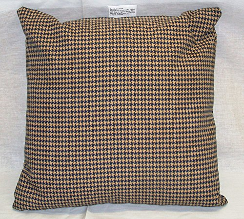 OVERSTOCK BLOWOUT!! Pack of 5 Outdoor Patio Square Pillows with Zipper ~ Navy & Khaki Houndstooth ~ 14 x 14 x 6 ~ Shipping Included in Price