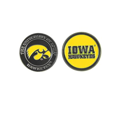 a5dfb647a06 Image Unavailable. Image not available for. Color  Iowa Hawkeyes Double- Sided UI Golf Ball Marker