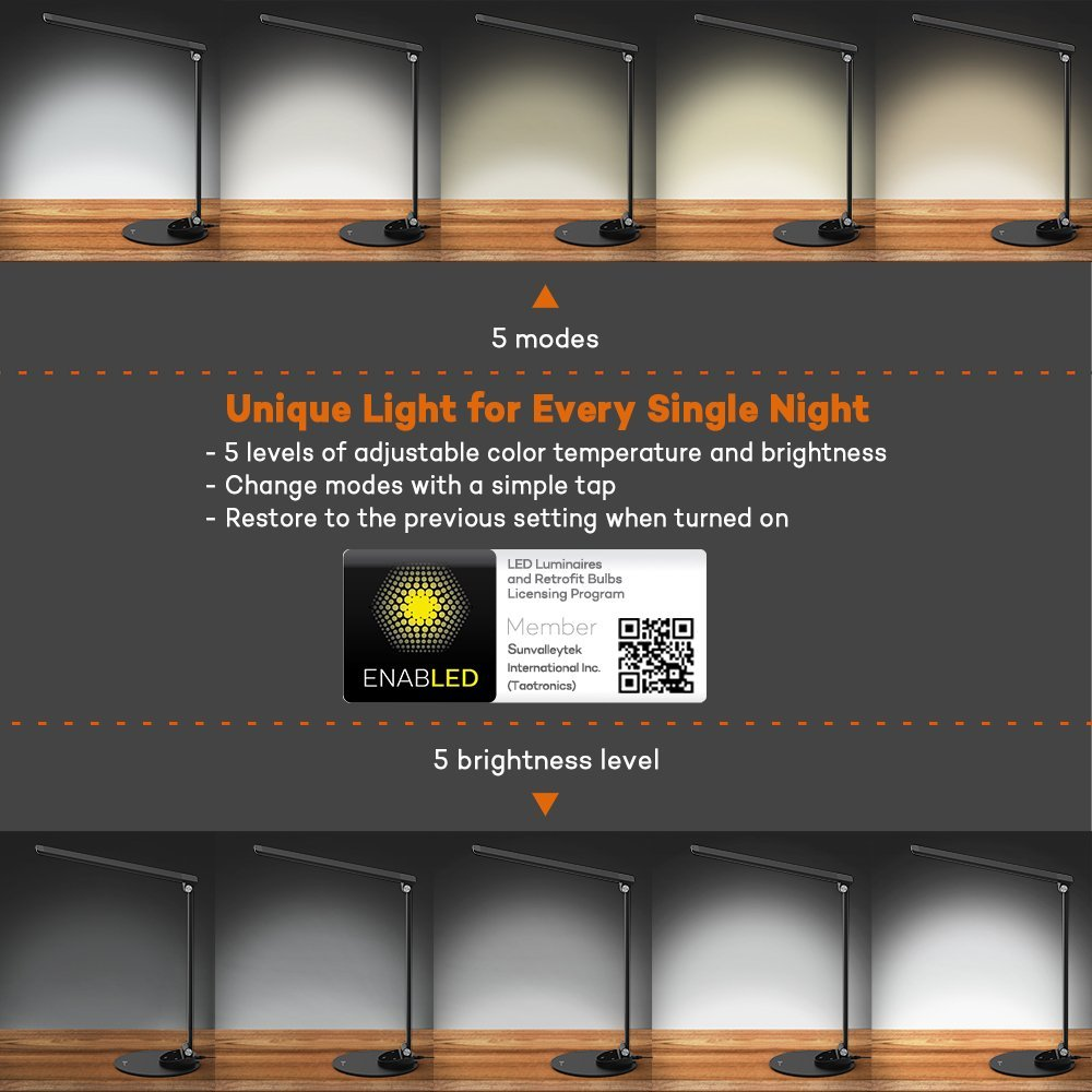 TaoTronics TT-DL19 LED Desk Lamp Silver