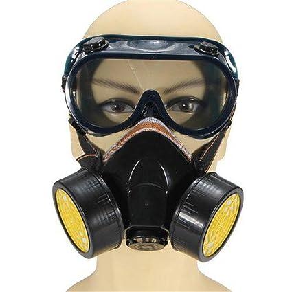 Funpa Máscara De Respirador Máscara Facial Antipolvo Al Aire Libre Máscara Facial Completa Protección Respiratoria con