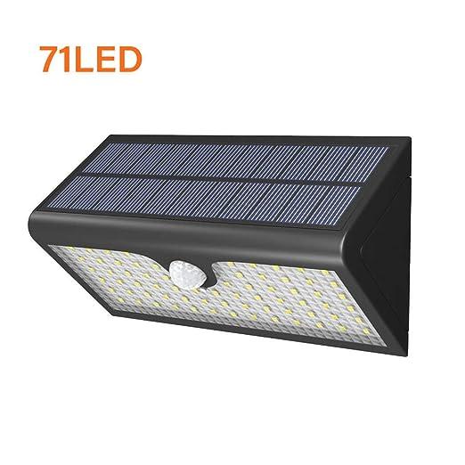 14 42 58 LED Lampara Solar Focos Solares Exterior,Impermeable Focos Led Solares con Sensor