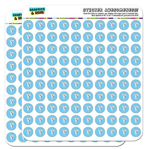 Karate Martial Arts Black Belt Sport 1/2 (0.5) Planner Calendar Scrapbooking Crafting Stickers - Opaque
