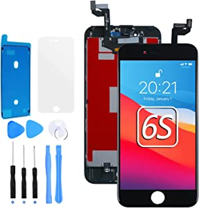 E-SUNG Trade for iPhone 6S Screen Replacement Black LCD Display Digitizer Screen 3D Touch Screen for iPhone 6S Assembly with Full Repair Tools Kits 4.7 Inch
