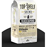 The Best High Caffeine Dark Roast Whole Bean Black Coffee, Extra Strong Gourmet Columbian Clean Coffee Beans by Top Shelf Gri