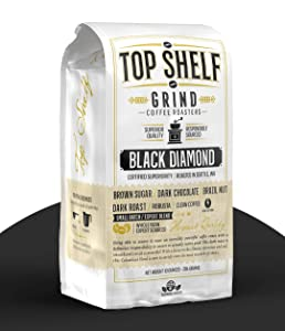The Best High Caffeine Dark Roast Whole Bean Black Coffee, Extra Strong Gourmet Columbian Clean Coffee Beans by Top Shelf Grind Company   Worlds Strongest Black Roasted Java   Seattles Purity Culture