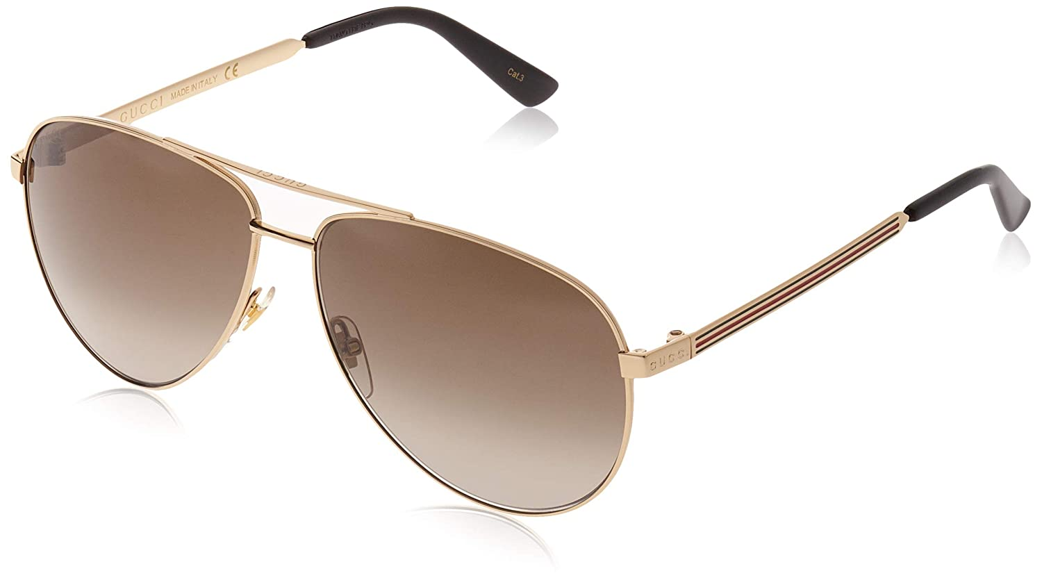 7acb8494792a9 Amazon.com  Sunglasses Gucci GG 0137 S- 001 GOLD BROWN  Clothing