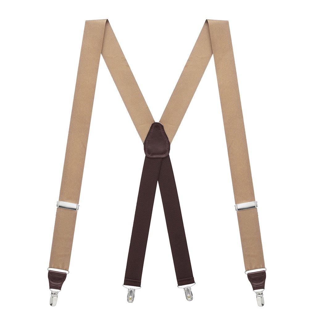2 Sizes, Array of Beautiful Colors SuspenderStore Mens Grosgrain Classic Colors Clip Suspenders G-CLASSIC-GROSGRAIN-CLIP-PARENT