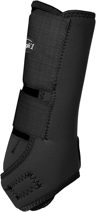 Tough-1 Economy Vented Sport Boots Perforated Neoprene Front Medium