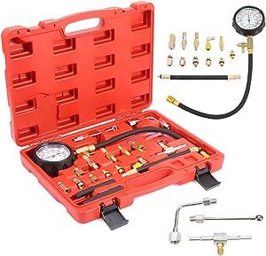 Fuel Pump and Vacuum Tester Pressure Gauge Tool Kit