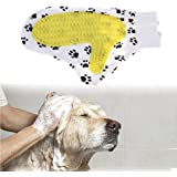 el guante cepillo huellita para baño y cepillado de tu mascota