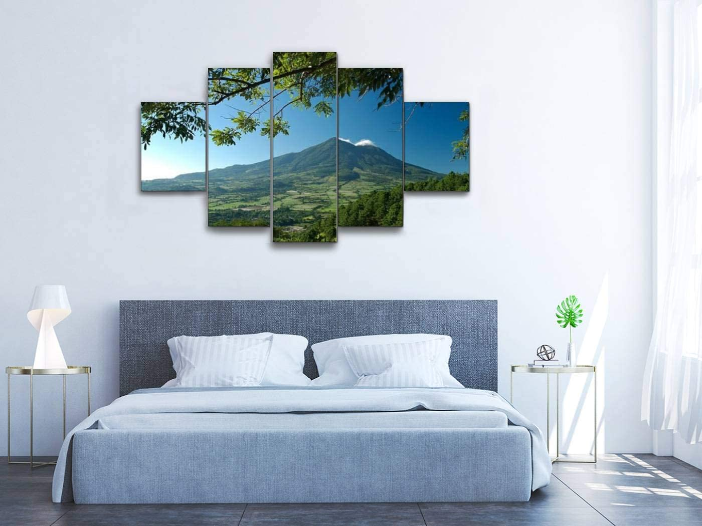 Skipvelo san Vicente Volcano el Salvador Central America volcanos and Wall Art Canvas Prints Pictures Paintings Artwork Home Decor Stretched and Framed