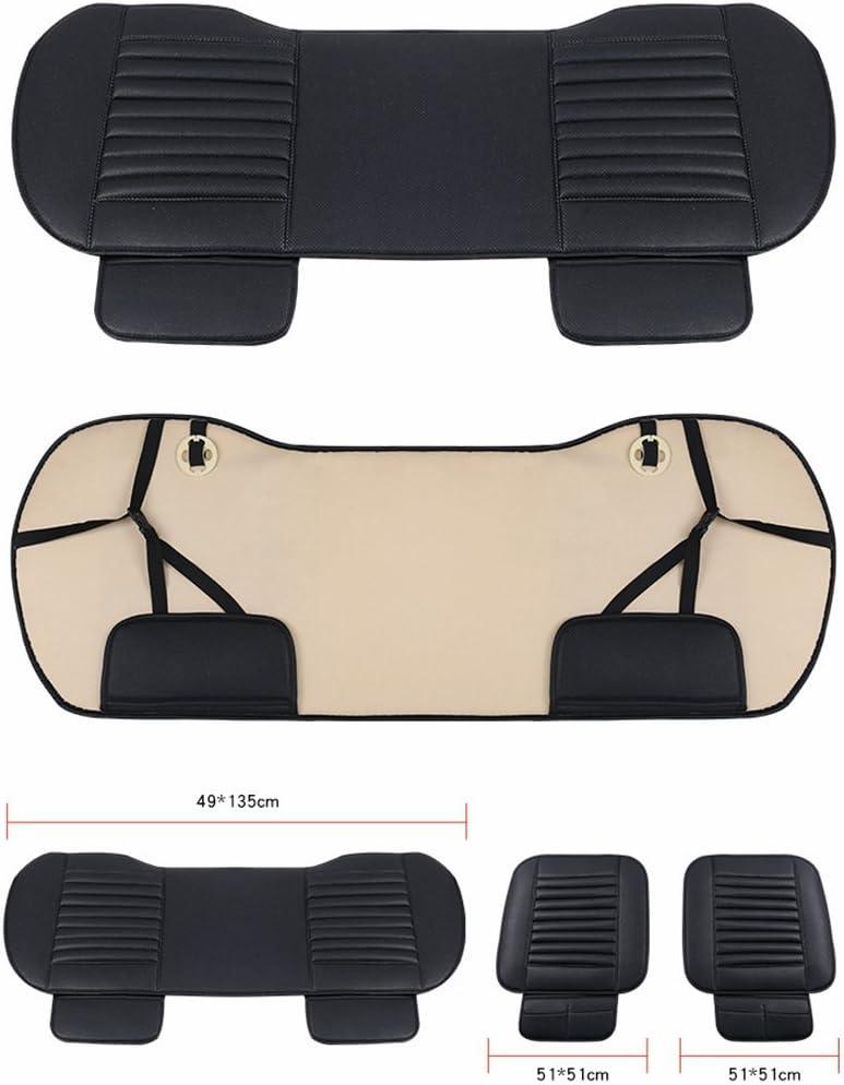 HONCENMAX Auto Sitzauflage Sitzkissen Universal Sitzauflagen Autositzbez/üge 1 Packung Vordersitzbezug BambusKohle PU Leder - Ohne R/ückenlehne