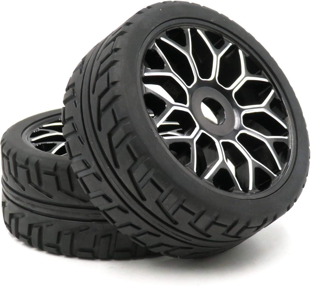 Hobbysoul 4 Stück Rc 1 8 Aluminium Felgen Wheel Rim Sechskant 17mm 1 8 Buggy On Road Reifen Tire Spielzeug