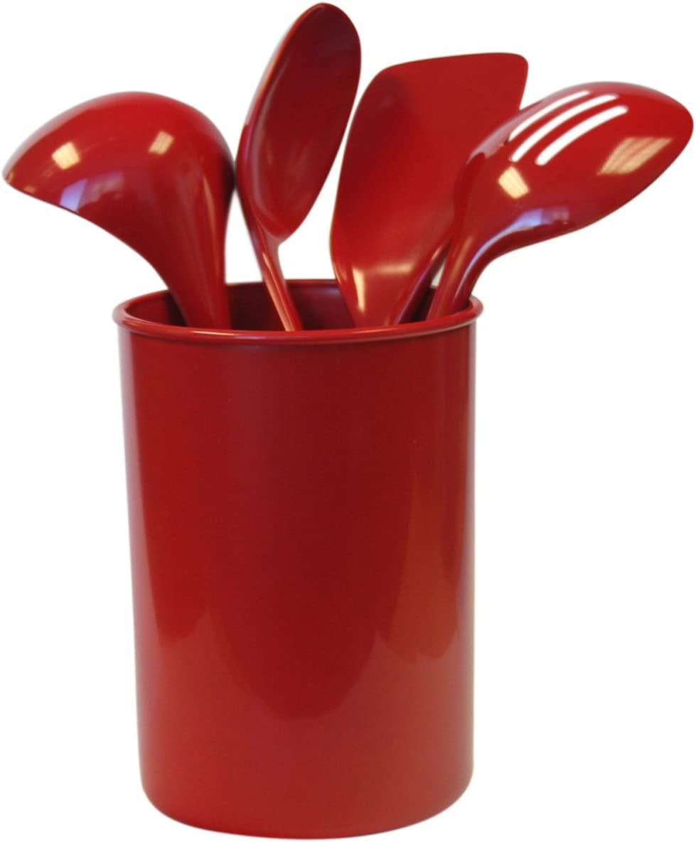 Reston Lloyd 5-Piece Calypso Basics Utensil Holder Set, Red