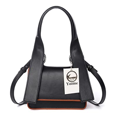 e239fb9335ce Yoome Women s Small Cowhide Leather Shoulder Bag Chic Cross-body Bag Top  handle handbags with