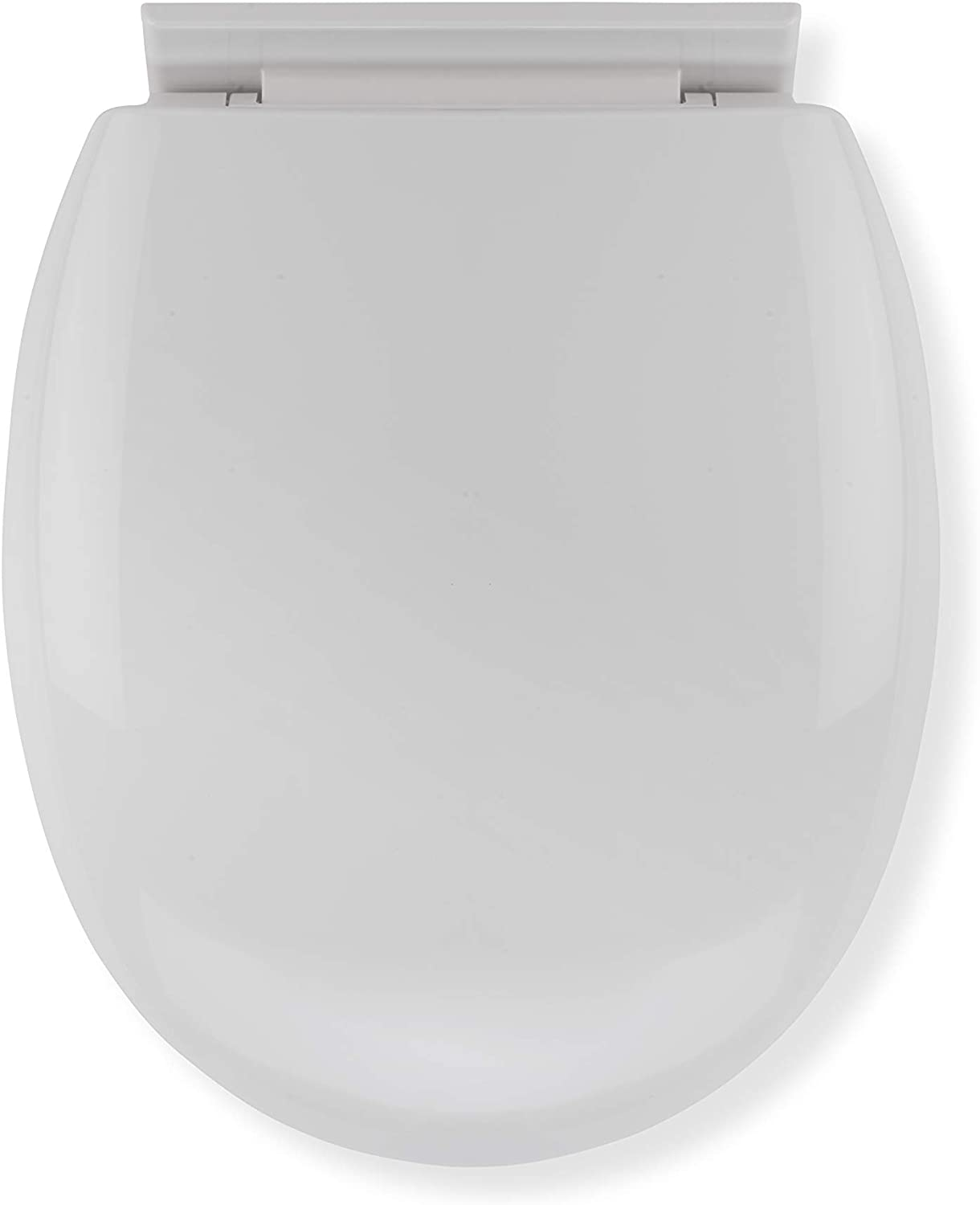 Croydex Anti-Bacterial Toilet Seat with Soft Close Hinges Made From Resilient Polypropylene, White