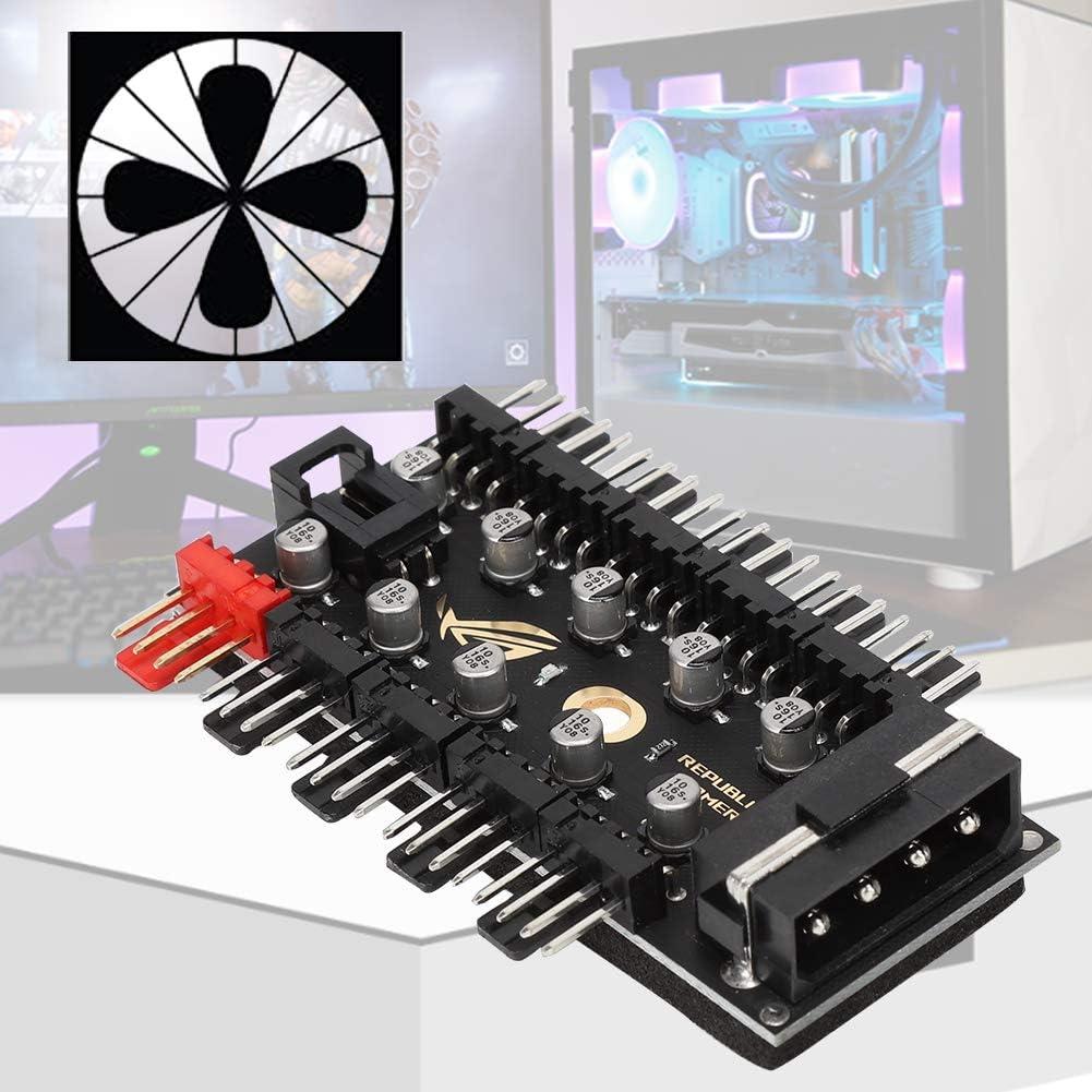 Concentrateurs de ventilateur PWM carte de commande de ventilateur de carte m/ère 10 canaux avec bo/îtier dordinateur et carte de ligne de jeu de concentrateurs de ventilateur de refroidissement PWM /à