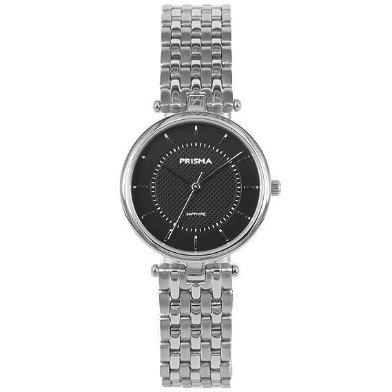 Prisma Reloj analógico para mujer Quartz Titanio Plata P1679: Amazon.es: Relojes