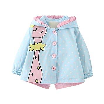 Baby Girls Hoodie Cazadora Chaqueta Jirafa Impreso Princesa ...