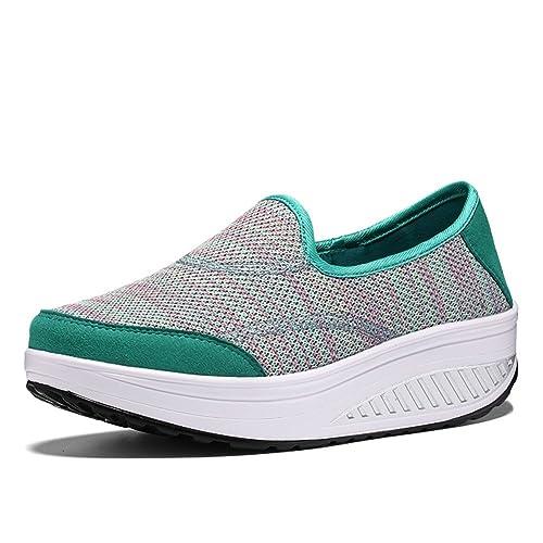 Scarpe da Donna Knit Spring Fall Slip On Casual Sneakers