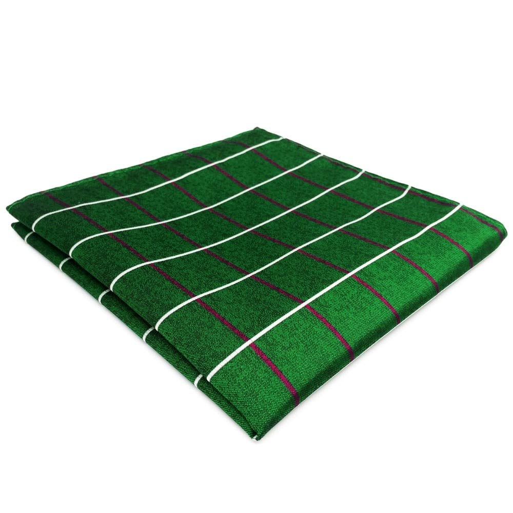 SHLAX& WING New Checkered Green Mens Pocket Square Handkerchief for Suit Jacket Designer EH28