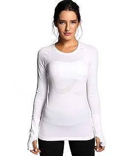 CRZ YOGA Femme T-Shirts et Tops de Sport à Manches Longue Chemise Running ec94f097e49