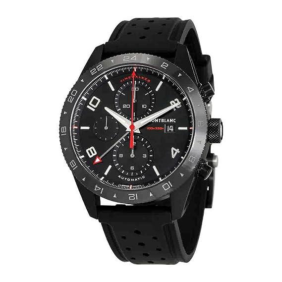 Montblanc TimeWalker Reloj de Hombre automático 43mm Correa de Cuero 116101: Amazon.es: Relojes