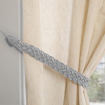 Cortinas de punto Mano atada cuerda simple tipo cortina alzapaños y accesorios: Amazon.es: Hogar