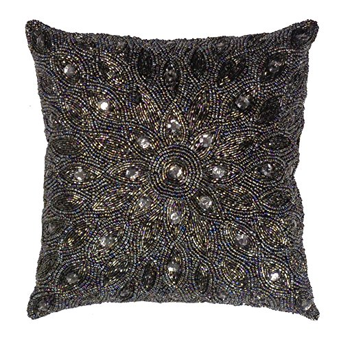Cotton Craft Throw Pillows - Peacock Hand Beaded Decorative Pillow 12x12 Square eBay