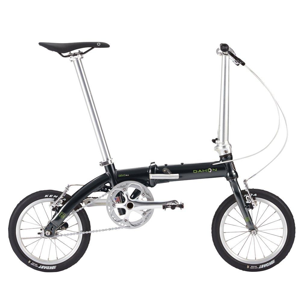ダホン(DAHON) Dove Plus 14インチ 折り畳み自転車 シングル変速 6.97kg B075SRDPPVオブシディアンブラック