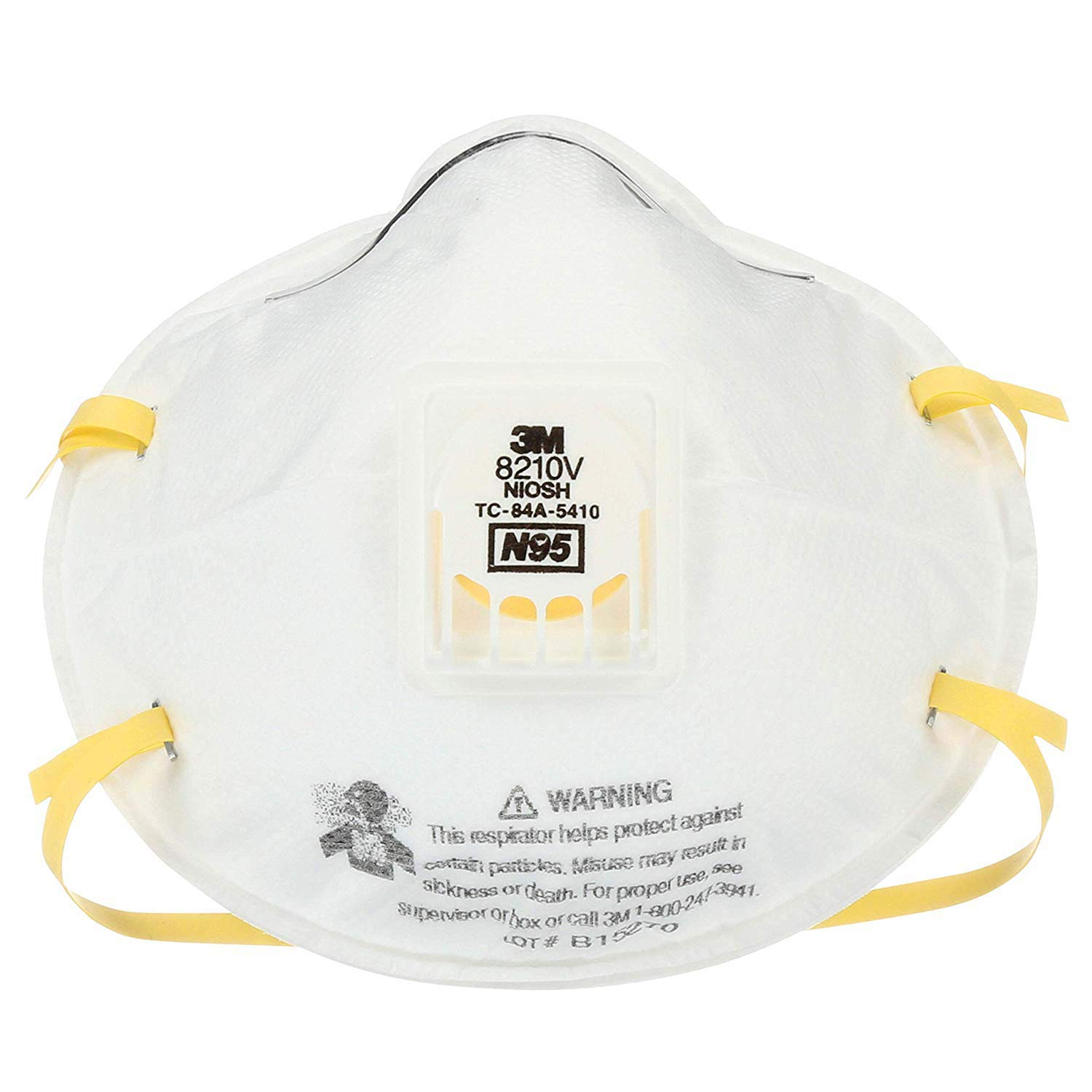 3M 8210V Particulate Respirator, N95 Respiratory Protection (Case of 40)