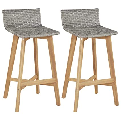 Excellent Amazon Com Festnight Set Of 2 Bar Stools With Backrest And Evergreenethics Interior Chair Design Evergreenethicsorg