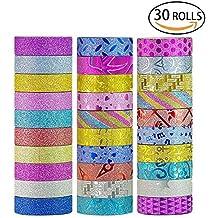 Washi Tape Set of 30 Rolls All Girls Favorite Creative Multi-purpose Masking Tape Great for Arts Crafts DIY - Multicolour