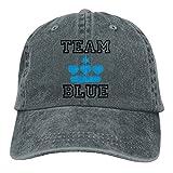 Huagestroe Team Blue | Boy | Baby Cowboy Hip-Hop Hat Rear Cap Adjustable Cap