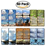 Most Highlighted Bible Scriptures Bookmarks Cards (60-Pack)- NIV Version - Christian Encouragement Gifts - Church Supplies - Stocking Stuffers for Easter Day Thanksgiving Christmas Birthday Everyday