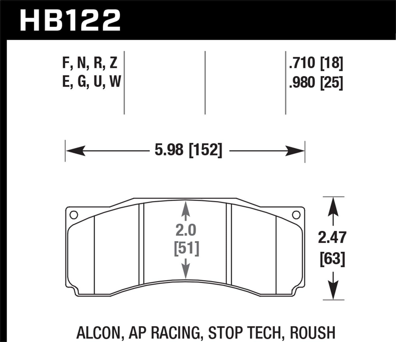 Hawk Performance HB122N.710 HP Plus Brake Pad