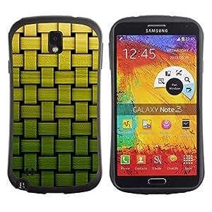 "Hypernova Slim Fit Dual Barniz Protector Caso Case Funda Para Samsung Note 3 [Cesta Modelo verde de bambú""]"